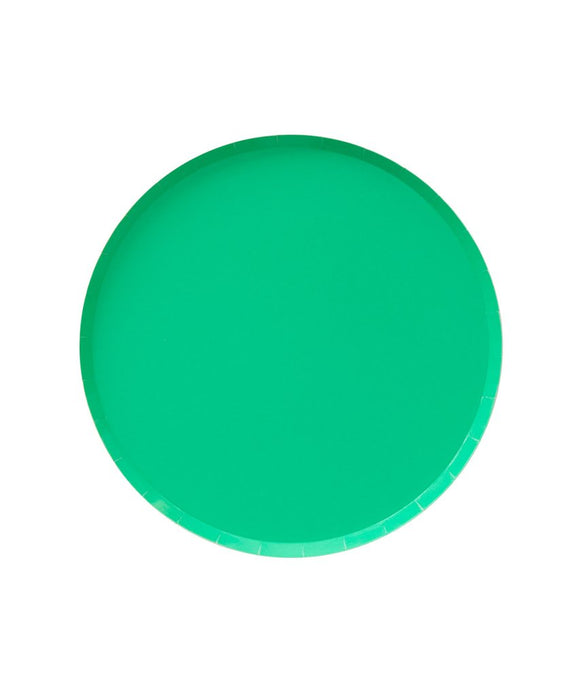 Kelly Green Paper Plate Party Supplies