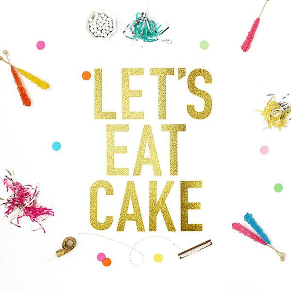 Let's Eat Cake Party Banner
