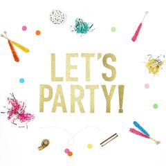 Let's Party Gold Banner Party Decoration