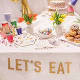 Let's Eat Cake Banner and Confetti Cake