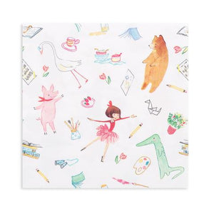 Lola Dutch Party Napkins, colourful and pretty. Highlighting Lolas Friends and Favourite Things. Each package contains 16 napkins.