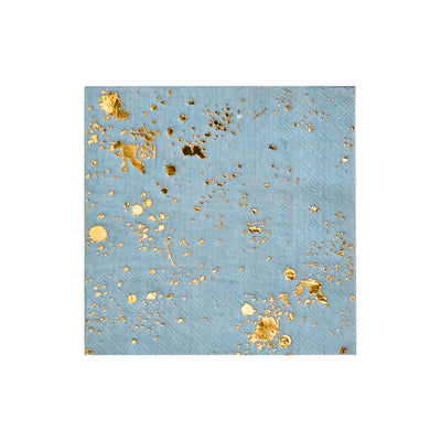 Malibu blue and gold speckled napkins