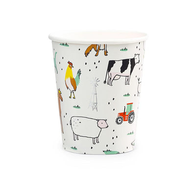 On the Farm Party Cups. With Barnyard animals and foil details