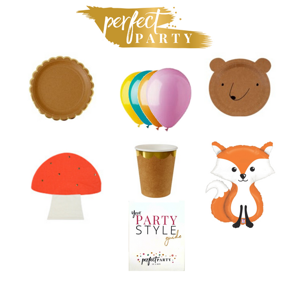 Woodland Adventure Petite Party In a Box Vision Board