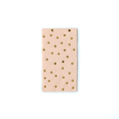 Blush and Gold Dot Paper Napkins