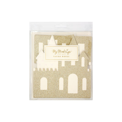 Gold Princess Castle Party Favour Boxes