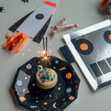 Space Cake Plate and Robot Plate