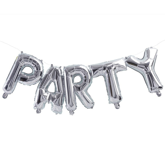 Perfect Party in a Box Silver Party Balloon Bunting Party Decor