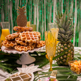 Waffles, Mimosas and Pineapple tableware
