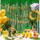 Party Decor with Giant Ring Balloon and Bride to Be Banner