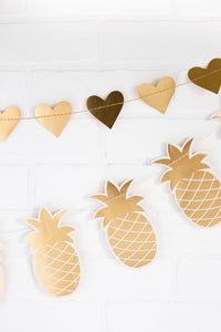 Gold Pineapple Banner Decoration