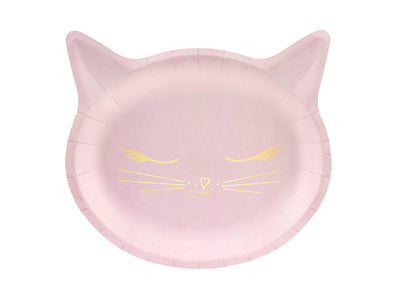 Pink Party Cat Plates