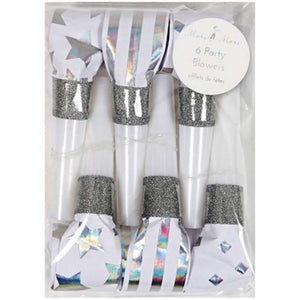 Silver Party Blowers Party Supplies