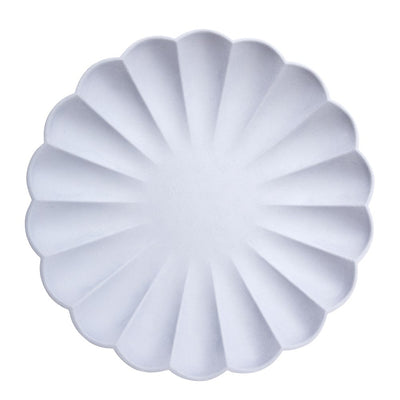 Simply Eco Blue Party Plates with Scalloped Edges