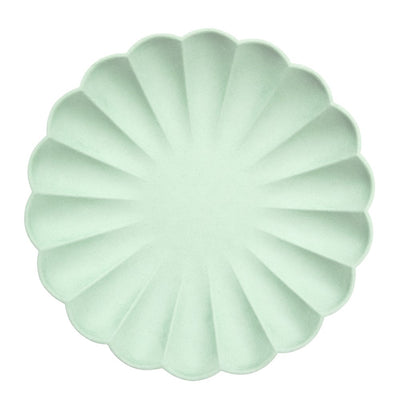 Simply Eco Friendly Mint coloured party plates with scalloped edges