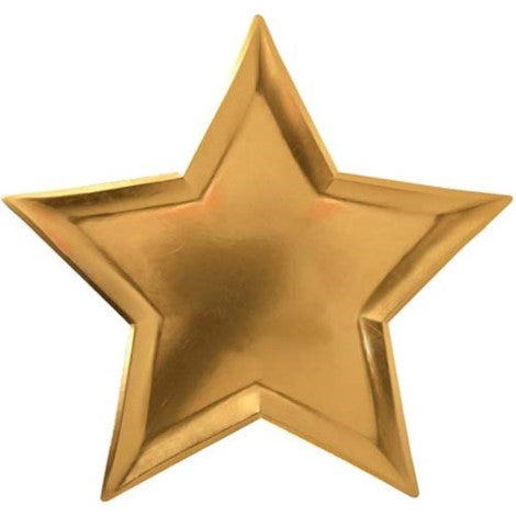 Gold Star Paper Party Plates