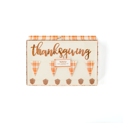 Thanksgiving mini trio banner party decoration