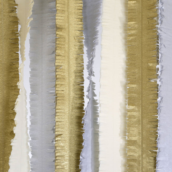Fringed Metallic Streamers Party Decor