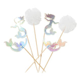 Variety of Mermaid Cake topper party supplies