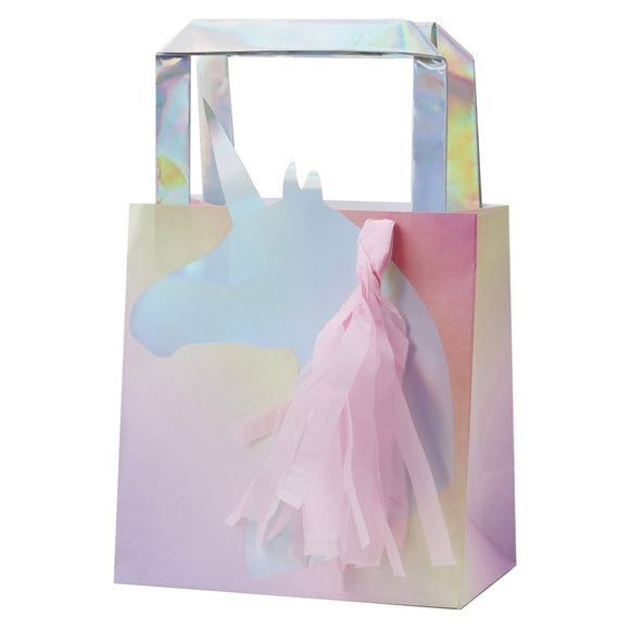 Unicorn Party Favour Bag with Pink tassels