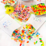 Party Time Treat Bag filled with multi coloured candies