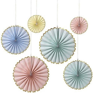 Pretty Pastel Paper Pinwheel Decorations