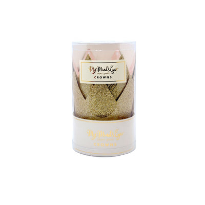 Sparkly Gold Paper Crown Party Cups Party Decorations