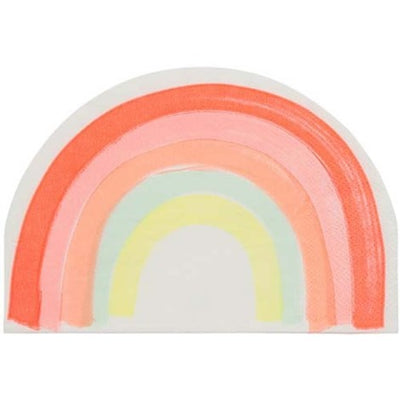 Neon Pastel Rainbow Shaped Party Napkins