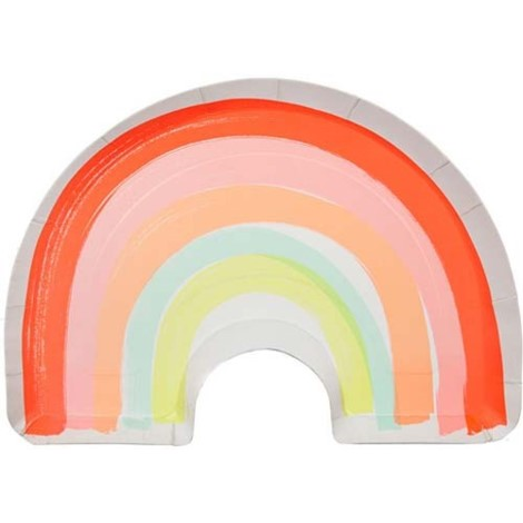 Rainbow Neon Shaped Plates