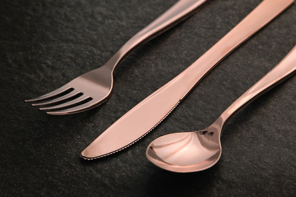 Rose Gold Premium Disposable Cutlery