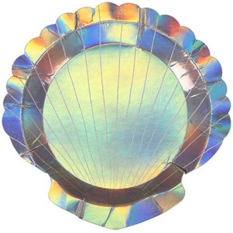 Sea Shell Shaped Paper Plate Party Essentials