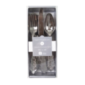 Silver Party Porcelain Disposable Cutlery Set
