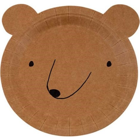 Brown Bear Shaped Plate Party Supplies
