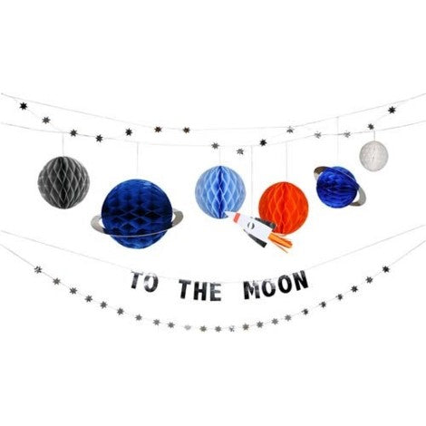 To the Moon Space Banner Decoration