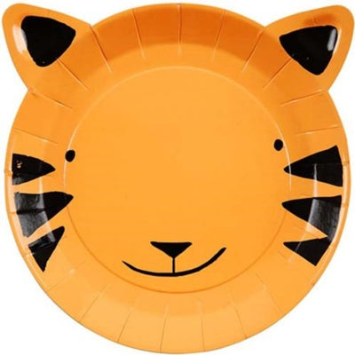 Tiger Shaped Paper Party Plates