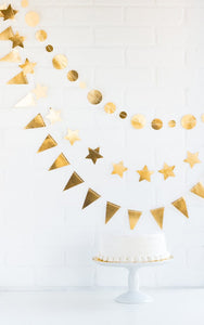 Trio Gold Banner Party Decorations