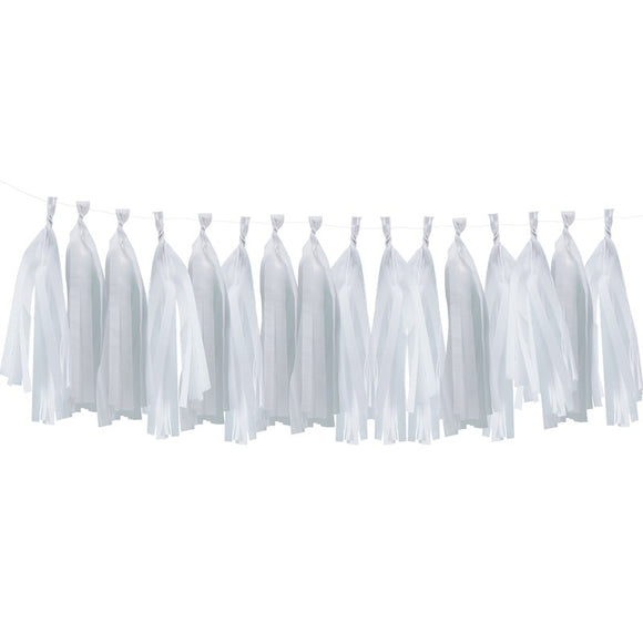 Perfect Party in a Box White Tassel Garland Party Decor