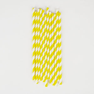 Yellow Striped Straws
