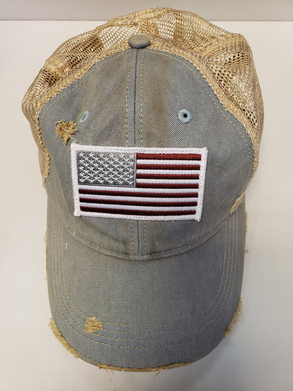 Flag on Sky Blue Hat