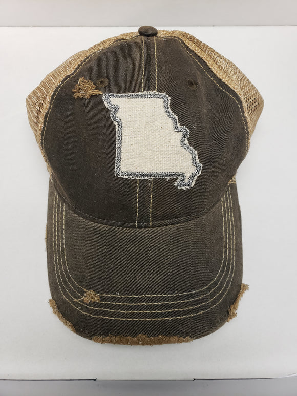 Missouri on Charcoal Hat