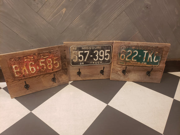 Rustic n Worn License Plate Hooks