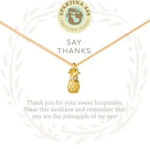 "Sea La Vie Necklace 18"" Thanks/Pineapple"