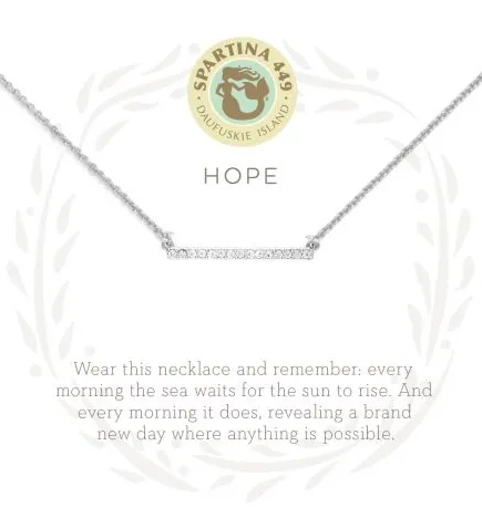 "Sea La Vie Necklace 18"" Hope/Horizon SIL"