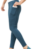 Fitkicks Crossover Leggings- Teal