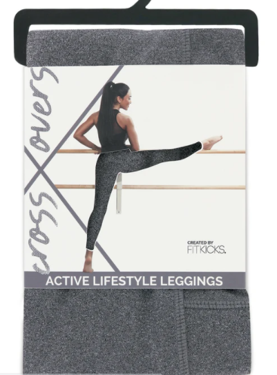 Fitkicks Crossover Leggings- Grey