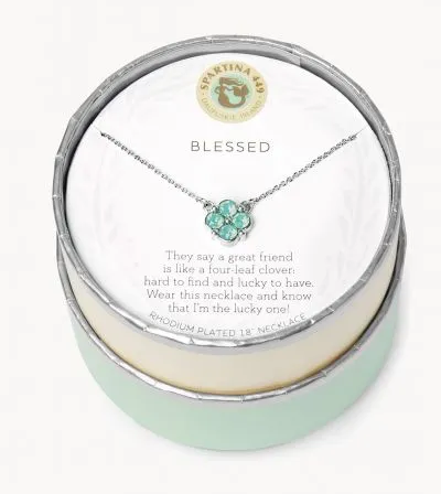 "Spartina Sea La Vie Necklace 16"" Blessed Seafoam/Clover"