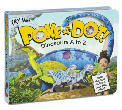 Melissa & Doug Poke-a-Dot - Dinosaurs A to Z Board Book