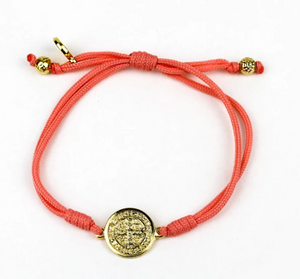 Serenity Benedictine Blessing Bracelet- Gold/Peach