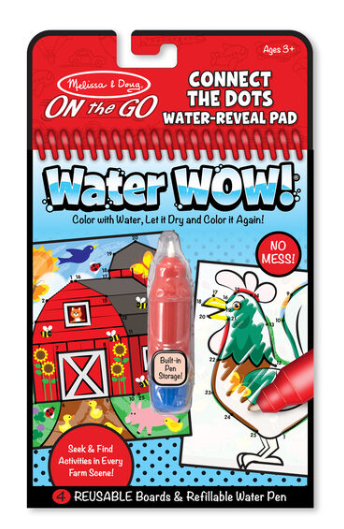 Melissa & Doug Water Wow! Connect the Dots Farm - On the Go Travel Activity