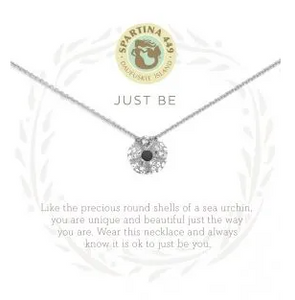 "Sea La Vie Necklace 18"" Just Be/Sea Urchin SIL"
